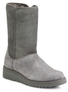 UGG Amie Classic Slim Medium Wedge Boots $195 thestylecure.com