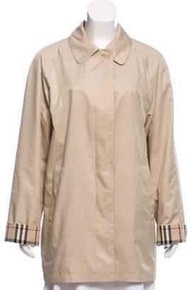 Burberry Nova Check Lined Trench Coat