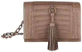 Nancy Gonzalez Crocodile Tassel Cross Body Bag