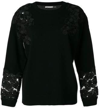 Alice + Olivia Alice+Olivia lace trim sweater