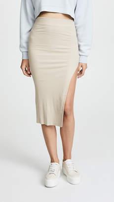 Cotton Citizen The Melbourne Midi Skirt with Slit
