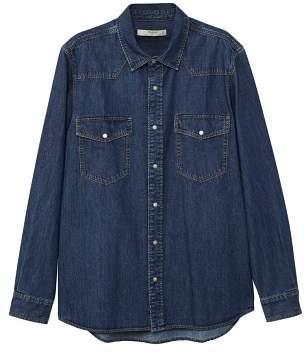 Mango man MANGO MAN Dark wash regular-fit denim shirt