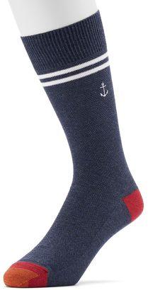 Men's GOLDTOE Anchor Striped Crew Socks $7 thestylecure.com
