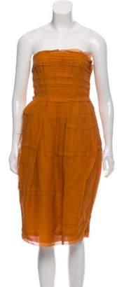 Bottega Veneta Strapless Mini Dress w/ Tags Orange Strapless Mini Dress w/ Tags