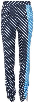 Tibi Delphina Stripe Shirred Pleat Pants