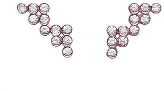 Yannis Sergakis Adornments Charnières Diamond Crawler Stud Earrings - Rose Gold