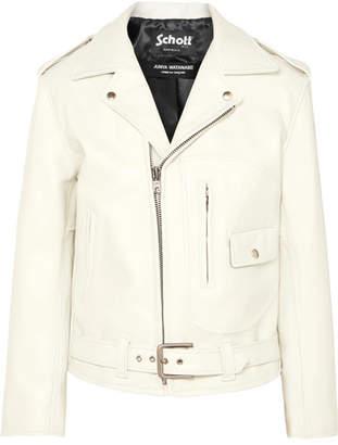 Junya Watanabe + Schott Leather Biker Jacket - White