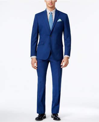Kenneth Cole Reaction Men's Slim-Fit Bright Blue Suit $375 thestylecure.com