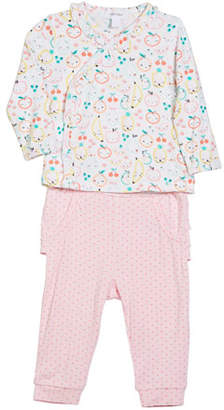 Angel Dear Fruit Ruffle-Trim Two-Piece Set, Size 0-12 Months