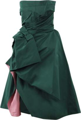 Oscar de la Renta Strapless Ruffle Cocktail Dress