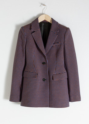 And other stories Hourglass Houndstooth Blazer