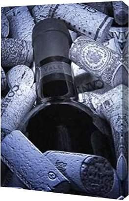 "Thomas Laboratories PrintArt GW-POD-11-PSMNR-122-11x16 ""Buried Wine Bottle"" by C. McNemar Gallery Wrapped Giclee Canvas Art Print"