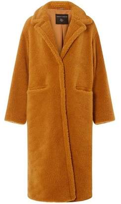 Dorothy Perkins Womens Tan Longline Teddy Coat