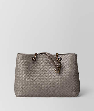 Bottega Veneta STEEL INTRECCIATO NAPPA MEDIUM TOTE BAG