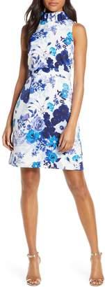 Eliza J Floral Print Ruffle Sheath Dress