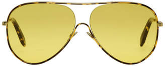 Victoria Beckham Tortoiseshell Loop Aviator Sunglasses