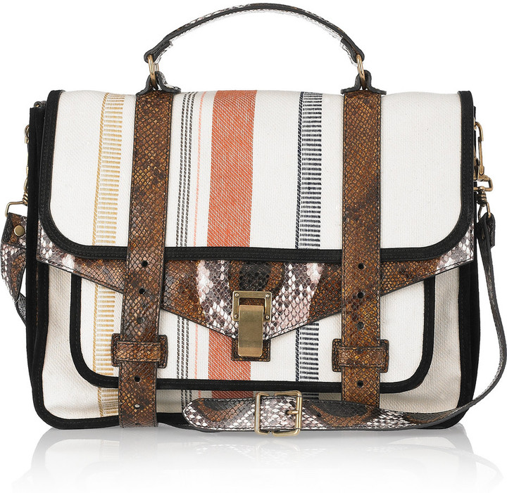 Proenza Schouler PS1 Large leather and canvas shoulder bag