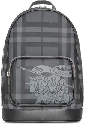 Burberry EKD London Check and Leather Backpack