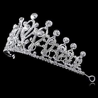 BST Wedding Headpieces BST Women/Flower Girl Bridal Rhinestone Crystal Cown Tiaras With Wedding/Party Headpiece Queen Stlye