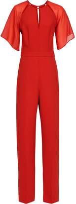 Reiss Scarlet - Wide Leg Jumpsuit in Red