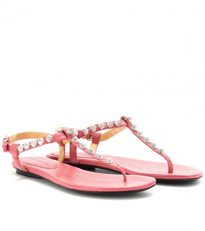 Balenciaga GIANT STUDDED LEATHER SANDALS