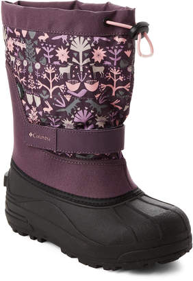 Columbia Kids Girls) Dusty Purple Powderbug Plus II Snow Boots