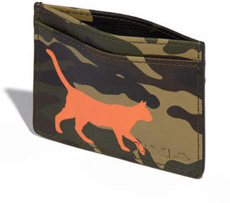 "Jam Mmxiv ""Camo Kitty"" Leather Cardholder Wallet"
