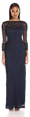 JS Collection Women's Long-sleeved Mesh Soutache Embroidered Dress $181.46 thestylecure.com