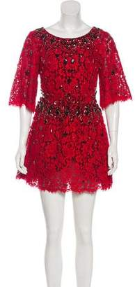 Dolce & Gabbana Embellished Lace Dress
