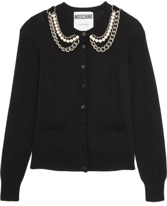 Moschino - Embellished Wool Cardigan - Black $875 thestylecure.com