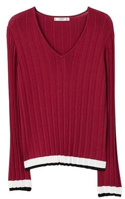 MANGO Contrast-edge sweater