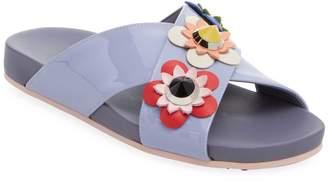 Fendi Women's Floral Patent Leather Sandal