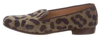 Stubbs & Wootton Suede Leopard Loafers