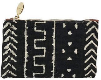 Gaia Princess Small Mud Cloth Pouch - Black/White