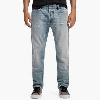 James Perse RELAXED FIT DISTRESSED DENIM JEANS