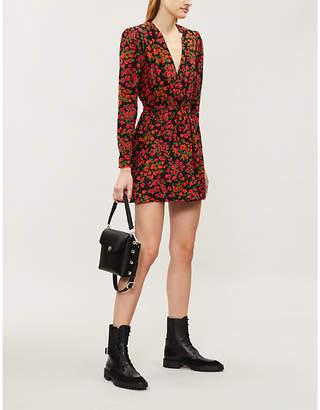 The Kooples V-neck floral-print silk dress