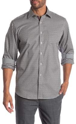 Bugatchi Check Print Woven Classic Fit Shirt