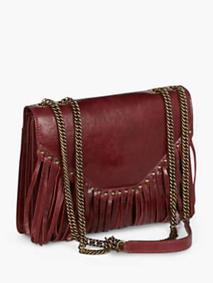 Gerard Darel Lucky Dread Leather Shoulder Bag