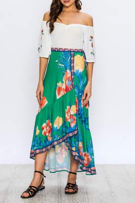 Flying Tomato Floral Wrap Skirt