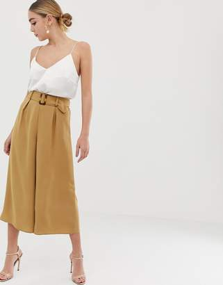 Lipsy belted cropped pants