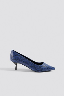 Na Kd Shoes Snake Printed Pumps Cobalt