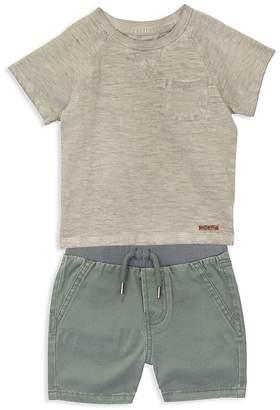 Hudson Boys' Short-Sleeve Sweatshirt & Shorts Set - Little Kid