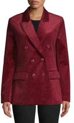 Joie Notch Lapel Double-Breasted Jacket