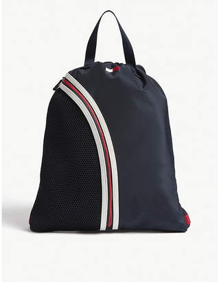Tommy Hilfiger Corporate mesh and nylon drawstring backpack