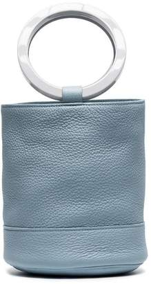 Simon Miller chalk blue Bonsai 20 bracelet handle leather bucket bag
