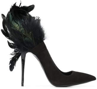 Maison Ernest feathered high heel pumps