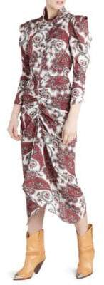 Isabel Marant Tizy Paisley Print Midi Dress