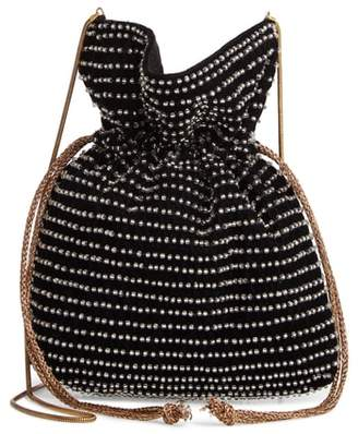 Steve Madden Beaded Drawstring Crossbody Bag