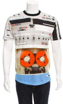 Givenchy Machine Print Crew Neck T-Shirt