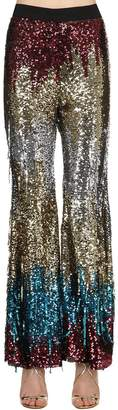Amen Sequined Multi Color Flair Pants